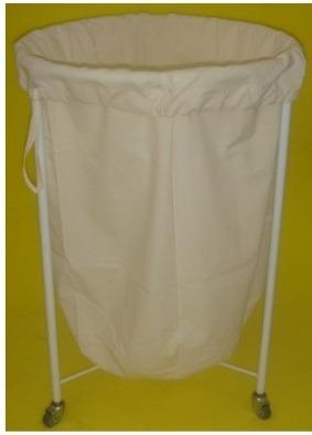 suporte hamper coletor p/ roupa hospitalar rodízio metálico