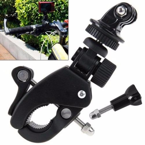 suporte hero câmera universal bike moto guidão com tripod