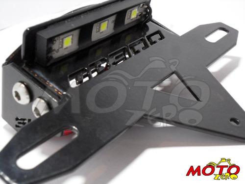 suporte iluminador de placa com led - honda - cb 300
