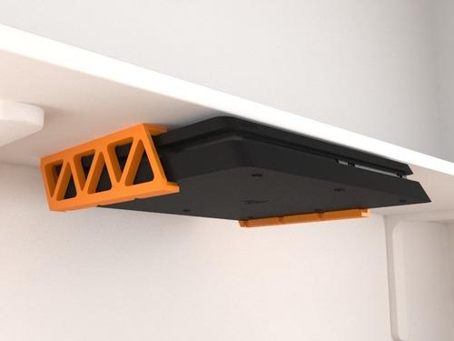 suporte inferior sob embaixo prateleira armário ps4 slim
