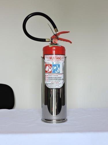 suporte inox extintor tipo batom p/ ap10l-co2 6kg-pqs12kg