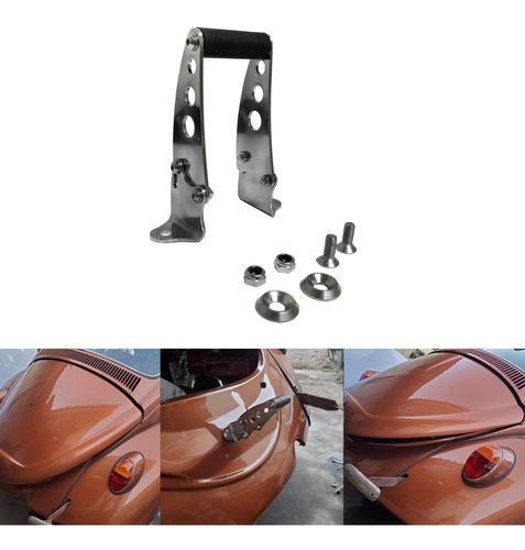 suporte inox p/ abertura capo traseiro fusca