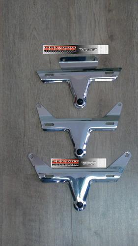 suporte inox y da placa traseira do fusca 1971 ao 1996