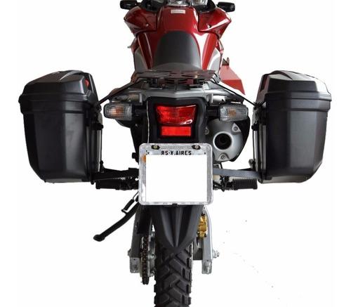 suporte lateral bau givi com base traseira para bau xre 300