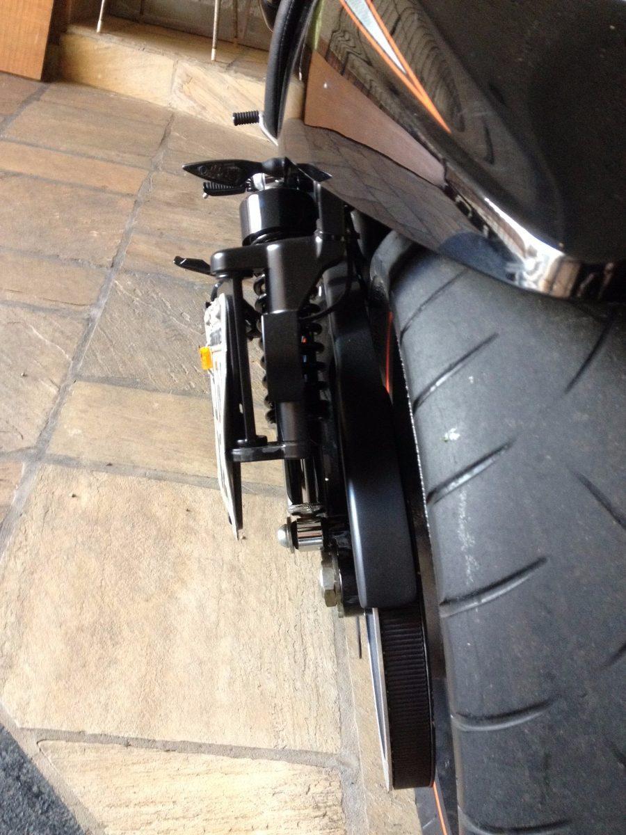 Suporte Lateral De Placa Harley Davidson V Rod Com Led R