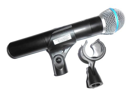 suporte luva cachimbo reforçado p/ microfone sem fio c/ 2