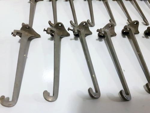 suporte mão francesa antigo de metal lote 15 peças