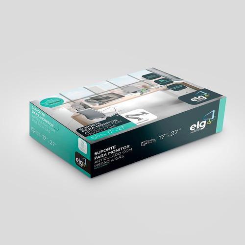 suporte monitor f80n elg - kit com 02 suportes