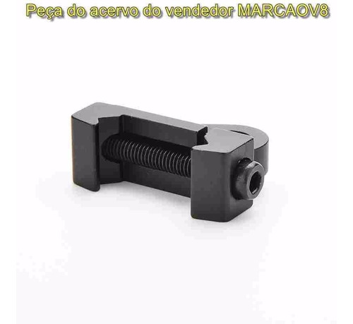 suporte mount d metal p espingarda paintball airsoft 20 mm 5