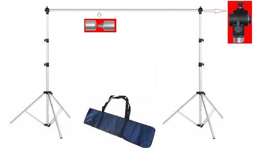 suporte móvel  p/ fundo completo c/ bag 3mx2,70m inc