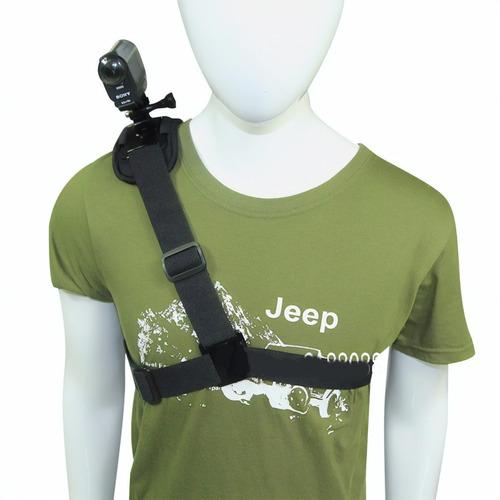 suporte ombro elástico sony action cam hdr-as15, as30, as100