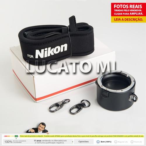 suporte p/ 2 lentes nikon porta lente 2x1 +frete grátis npfg