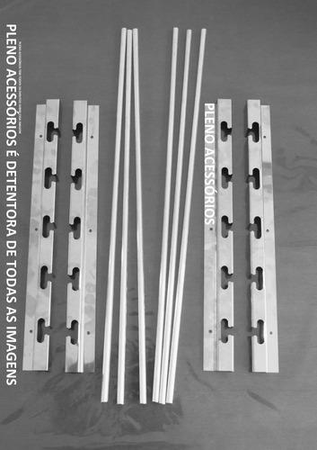 suporte p/ churrasqueira de alvenaria + 6 barras maciça 75cm