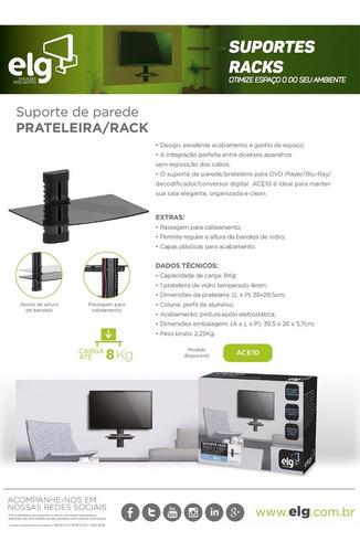 suporte p/ dvd / decoder digital tv cabo net ace10 new - elg