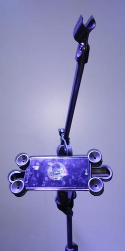 suporte p/ tablet celular de 4.5 a 10.1pol. p/ pedestal