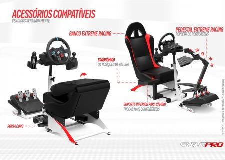 suporte p/ volante logitech g29 cockpit extreme simulador