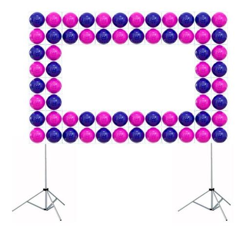 suporte painel festa 3x2m , balões cortina+presilhas+bolsa