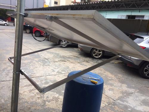 suporte painel placa solar fotovoltaico poste 150w a 180w
