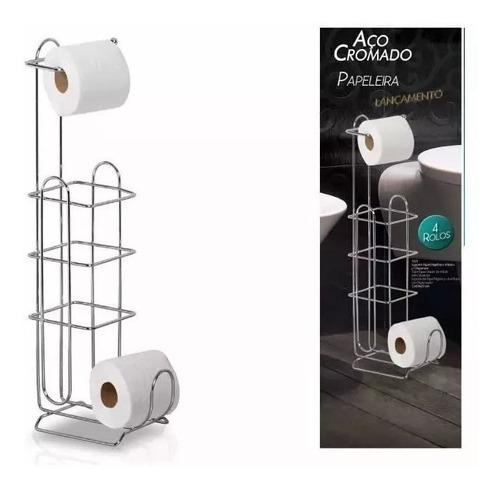 suporte papel higiênico 4 rolos c/ dispenser