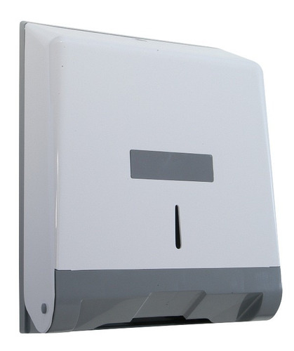 suporte papel interfolha  2 ou 3 dobras abs branco/cinza n7