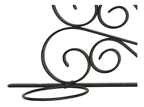 suporte para 3 vasos de planta em arco de ferro para parede