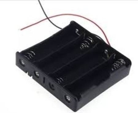 suporte para 4 pilhas aa - arduino