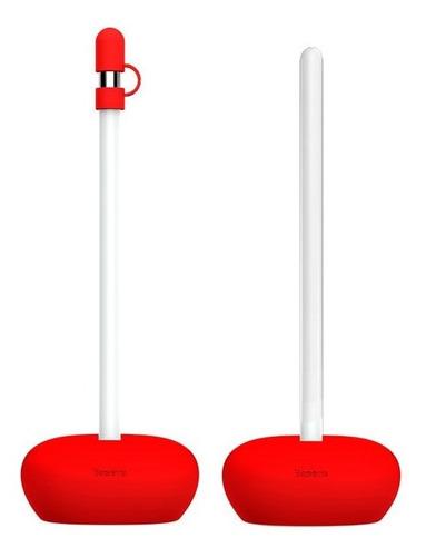 suporte para apple pencil em silicone baseus