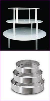suporte para bolo 3 andares (10cm alt)31,26,21cm + 3 formas