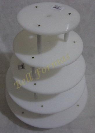 suporte para bolo 5 andares - banquinho (hastes 10cm alt)