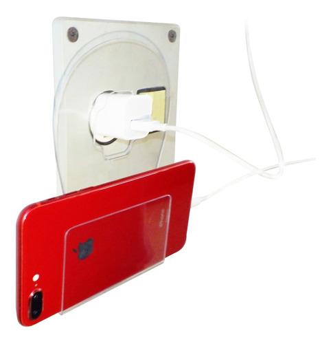 suporte para carregar celular parede tomada