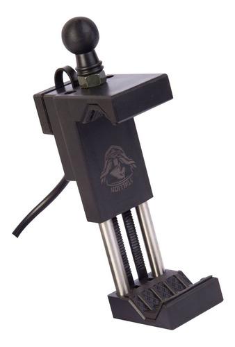 suporte para celular moto universal com carregador guidão gp