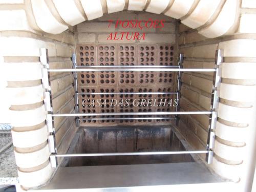 suporte para churrasqueira com 7 posições - altura 54cm