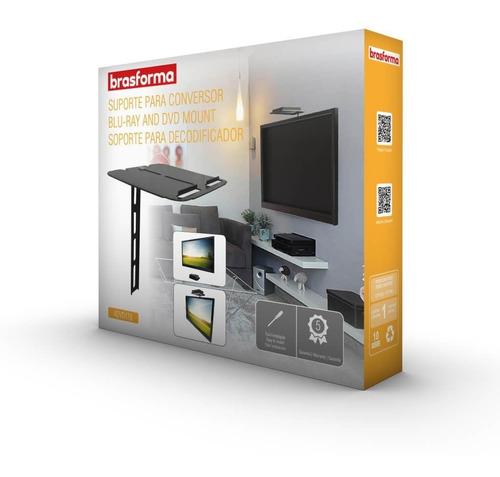 suporte para conversor, receptor e dvd - advd178 brasforma