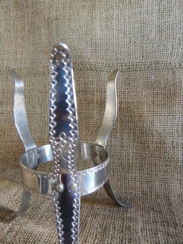 suporte para cuia de chimarrão aço inoxidável 16cm altura