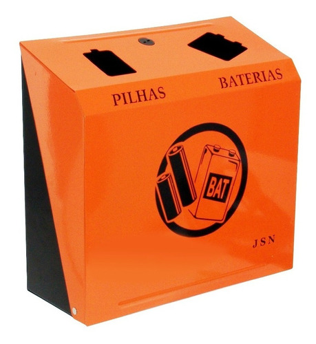 suporte para descarte de pilhas e baterias