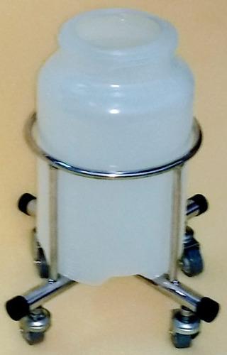 suporte para frasco de 5l de aspiração em inox  - hospitalar