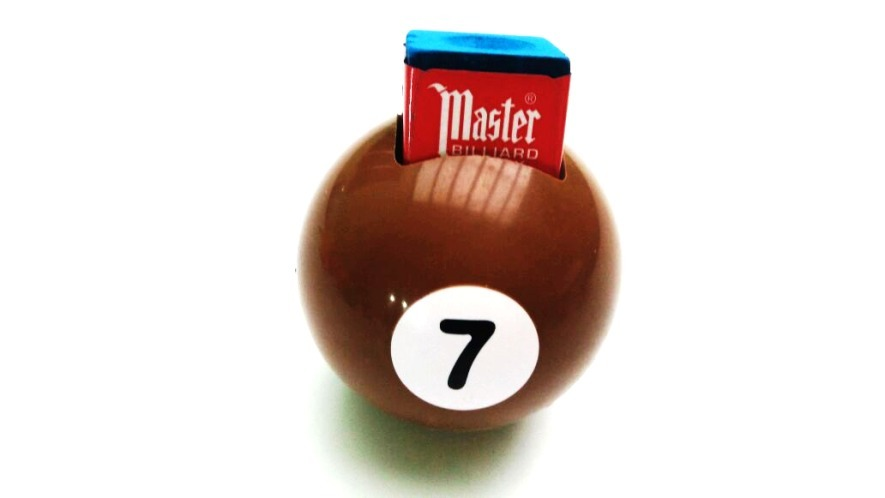 33d45403ed9 Suporte Para Giz Bilhar Sinuca Snooker Bola 7 - Marrom - R  23