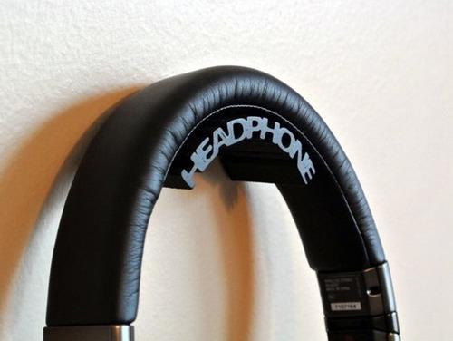 suporte para headset fone de ouvido headphone de parede