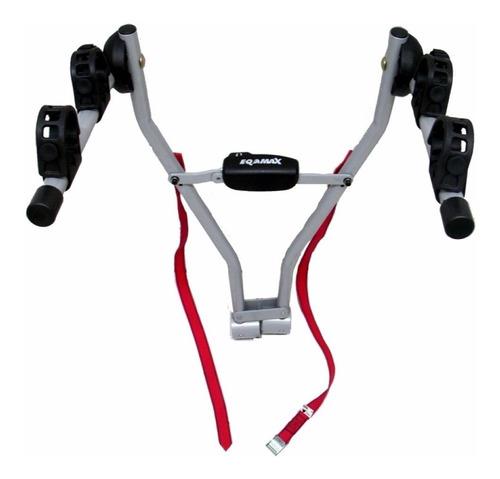 suporte para levar 2 bikes no engate eqmax easy  c/ cinta