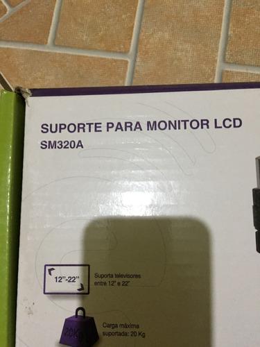suporte para monitor 12 a 22 mesa tvyes sm320a