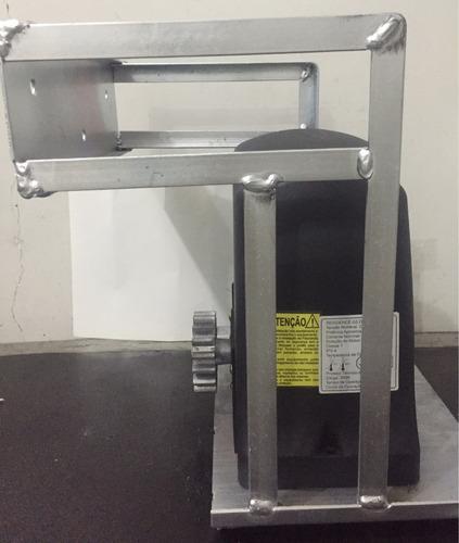 suporte para motor portão estilo cadeira reforçado cantoneir