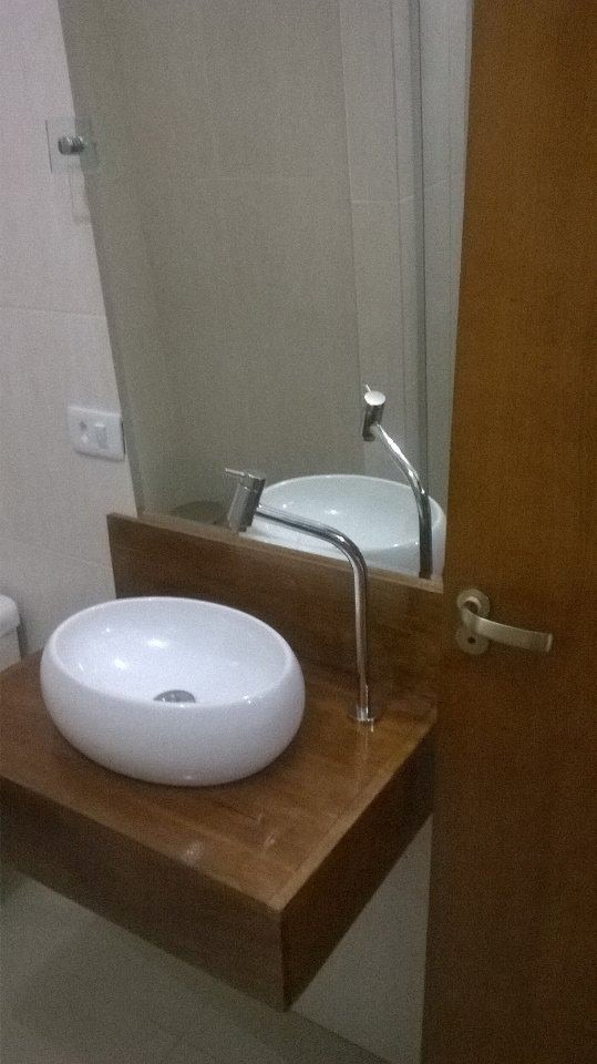 Suporte Para Pia De Banheiro  Madeira De Demolição  R$ 680,00 em Mercado Livre -> Pia De Banheiro Madeira