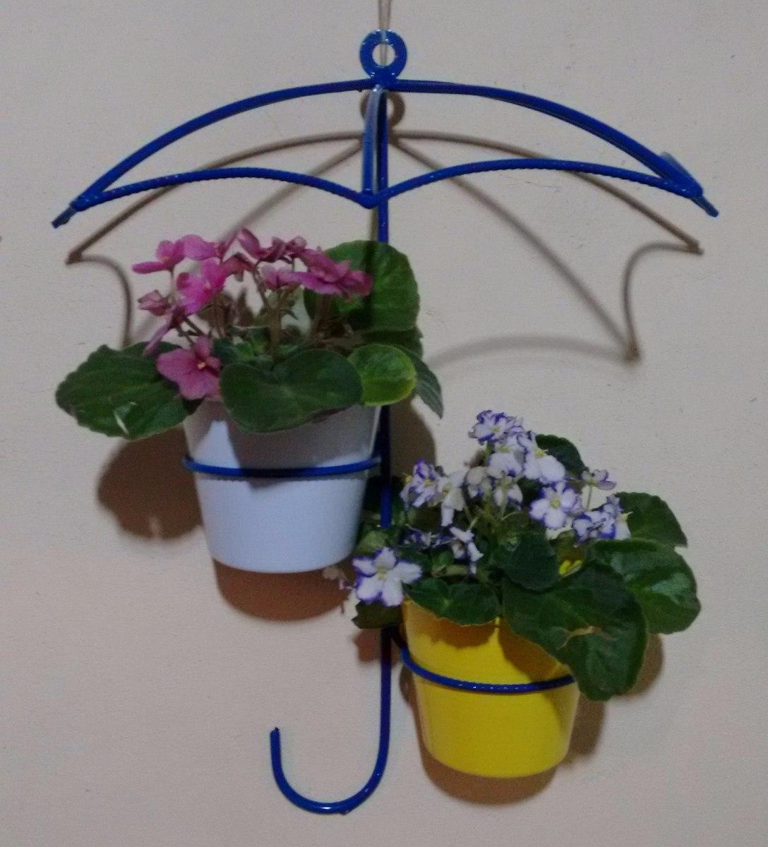 Suporte para plantas jardim guarda chuva ambi int e for Macetas para pared