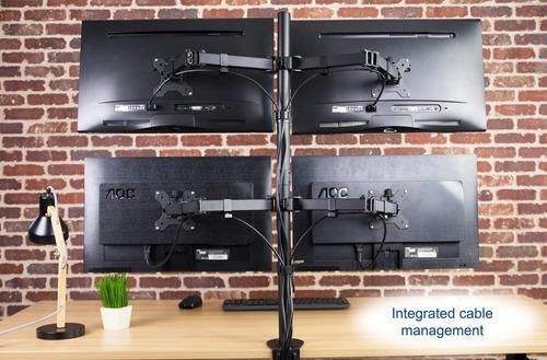 suporte para quatro monitores 4 telas de 15 a 32 v48c elg