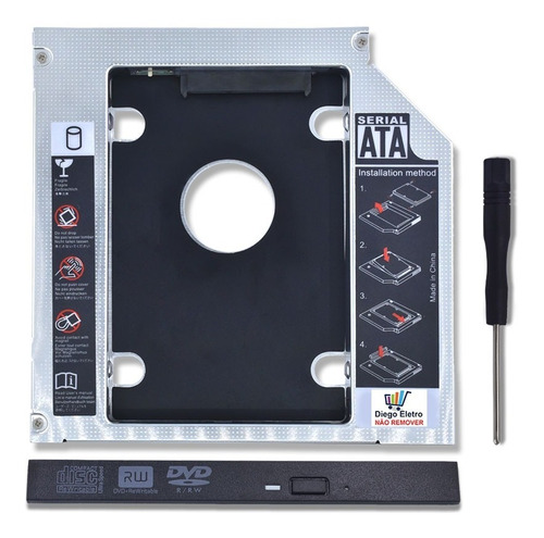 suporte para segundo hd caddy - apple imac 21.5 emc 2308