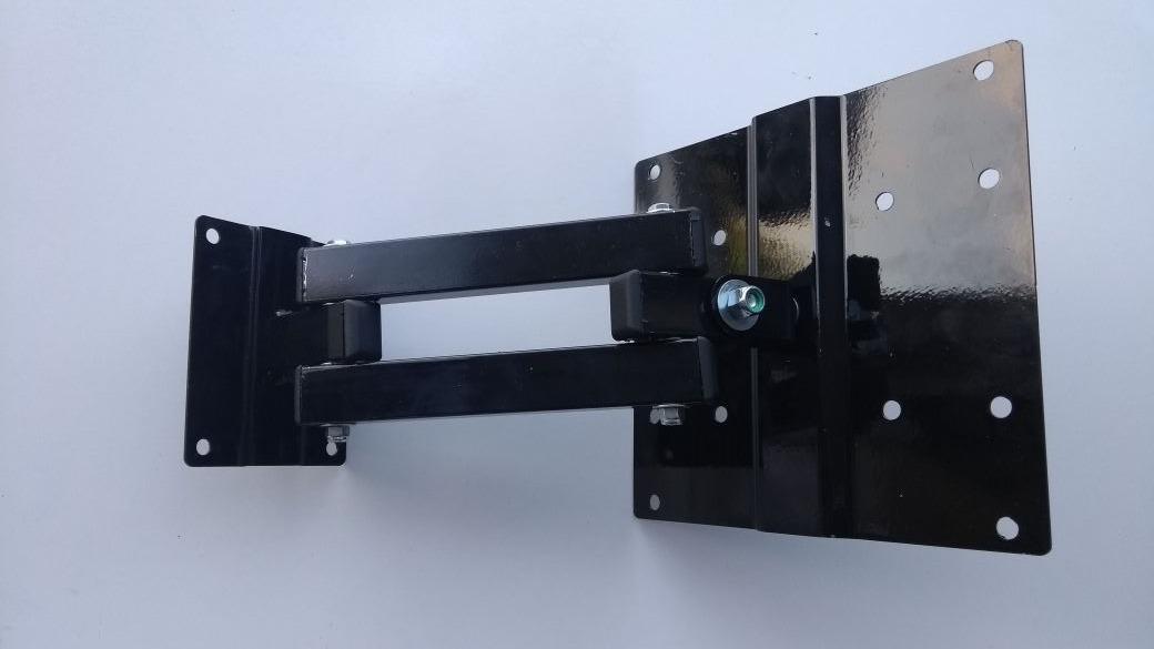 suporte para tv articulado até 43 pol - 30 cm de extensão-4d - r$ 80