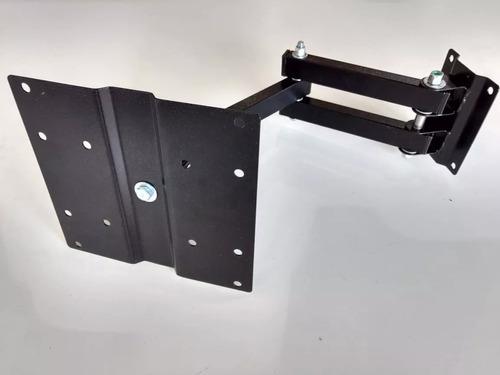 suporte para tv tri-articulado lcd led plasma 20 a 43 pol