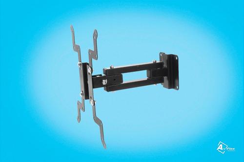 suporte para tv tri-articulado lcd led plasma 3d 20 a 40 pol