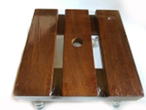 suporte para vasos quadrado 40cm com rodizio gel jardins