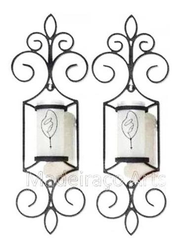 suporte para vela castiçal em ferro candelabro de ferro 2pçs